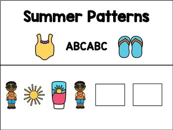 Adapted Pattern Books - Summer - Special Education