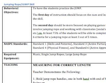 Adapted Physical Education Jump Skill