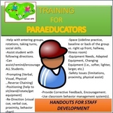Duties and Training Ideas for Paraprofessionals in Physcial Education Classes.