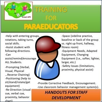 Duties And Training Ideas For Paraprofessionals In Physical Education Classes