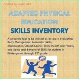 Adapted Physical Education Assessment