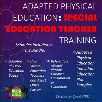 Adapted Physical Education: Special Education Teacher Training Bundle