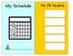 Adapted Planner/Schedule for Students with Special Needs