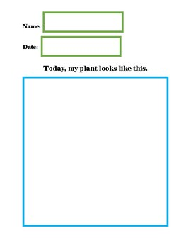 Adapted Plant Growth Observation Journal