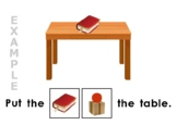 Adapted Prepositions Worksheets for Autism, Speech Therapy & Special Education