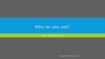 Adapted Reading Book: Who Do You See?