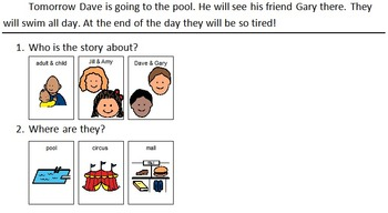 Adapted Reading Comprehension for Autism #2