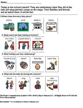Adapted Reading comprehension for Autism #5