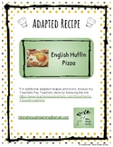 Adapted Recipe- English Muffin Pizza