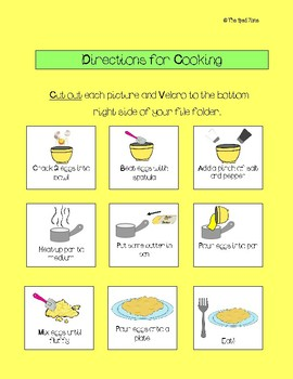 Adapted Recipe File Folder for Scrambled Eggs - Autism