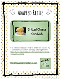 Adapted Recipe- Grilled Cheese Sandwich
