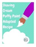 Adapted Recipe - Shaving Cream Puffy Paint