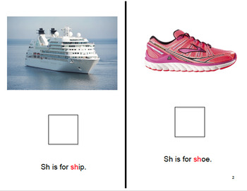 Adapted SH Consonant Digraph Book : AUTISM