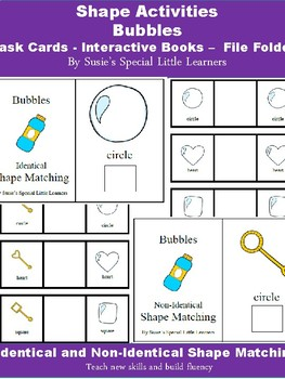Shape Task Cards, Adapted Books for Autism -