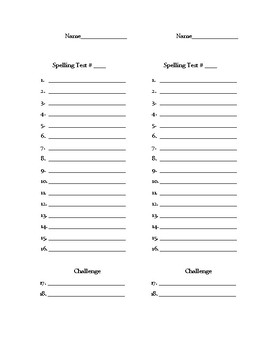 Adapted Spelling Tests for Use with Journeys 3rd Grade Curriculum
