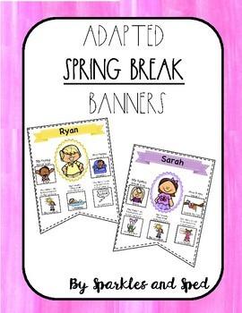 Adapted Spring Break Banner Set