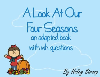 Adapted Story About The Four Seasons { Autism and Special Education }