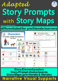 Adapted Story Map & Story Element Visuals: Creative Writing 4 Autism & Sp Ed