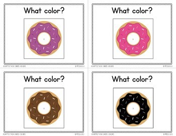Adapted Task Cards Basics: Colors