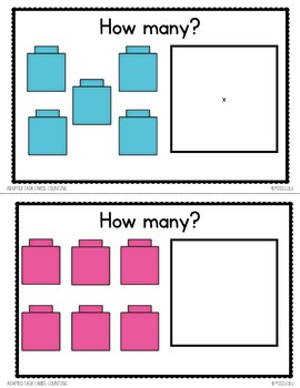 Adapted Task Cards Basics: Counting