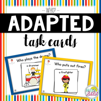 Who? Adapted Task Cards for Special Education