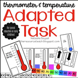 Adapted Task {thermometer and temperature)