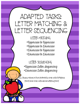 Adapted Tasks: Letter Matching & Letter Sequencing