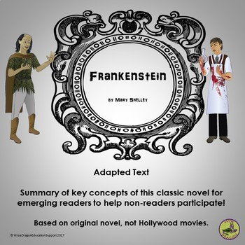 Frankenstein by mary shelley teaching resources teachers pay teachers adapted text summary of frankenstein by mary shelley fandeluxe Choice Image