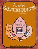 Adapted Thanksgiving activity