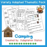 Camping Adapted Thematic Pack
