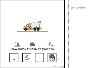 Adapted Truck Counting Book, Numbers 1-10