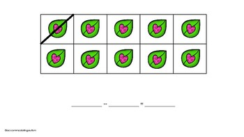Adapted Valentines Day Tens Frame Subtraction