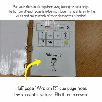 """Adapted """"Who Am I?"""" Class Book Activity"""