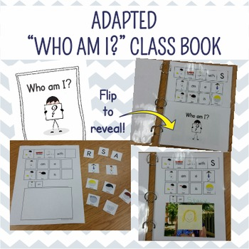 "Adapted ""Who Am I?"" Class Book Activity"