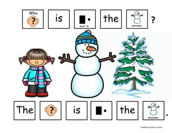 Winter Snowman Adapted Book