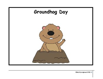 Adapted Work Packet: Groundhog Day