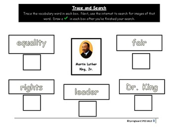 Adapted Work Packet: Martin Luther King, Jr.