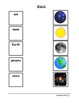 Adapted Work Packet: Our Solar System