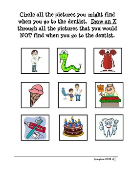 Adapted Work Packet: Taking Care of Teeth