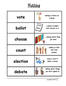 Adapted Work Packet: Voting
