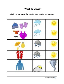 Adapted Work Packet: Weather