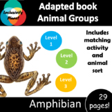 Animal Group Amphibian ADAPTED BOOK (level 1, level 2 and level 3) & activities