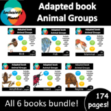 Animal Groups Bundle ADAPTED BOOKS (level 1, level 2 and level 3) & activities