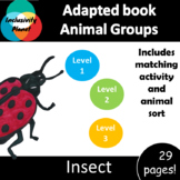 Animal Group Insects ADAPTED BOOK (level 1, level 2 and level 3) & activities