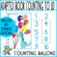 Dino balloons! Counting to 10 Adapted book. Hands-on learning.
