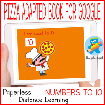 Adapted book. Salami counting activity. Numbers 1-10. Pizza lovers.