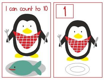 Adapted book The Penguin Wants to Eat. I can count to 10
