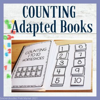 Pre-K Adapted book about Horses, plus Counting to 10 ,Special Education/Autism