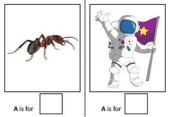 Adapted book alphabet sample Aa Level 3