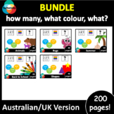 Adapted book GROWING BUNDLE: how many, what colour, what? AUS/UK version